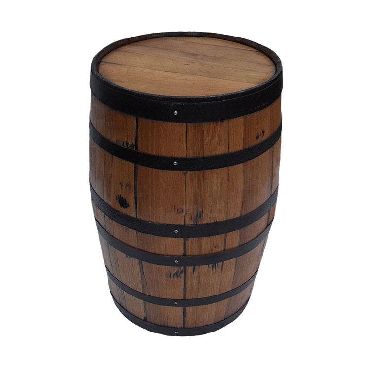 Finished Full Whiskey Barrel Tapas Table Sanded