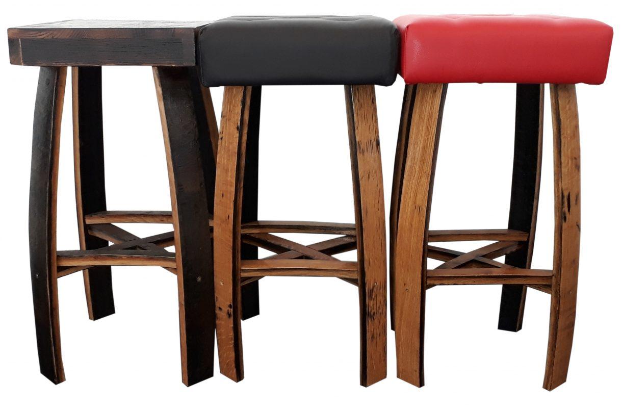 Dettagli su pub bar sgabelli bistrot sedile in pelle rossa realizzato a mano barile in rovere massello per mobili mostra il titolo originale